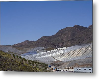 Solar Power Plant, Cala San Pedro, Spain Metal Print by Chris Knapton