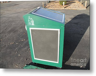 Solar Powered Trash Compactor Metal Print by Photo Researchers, Inc.