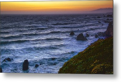 Sonoma Coast Sunset Metal Print