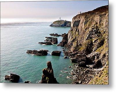 South Stack Metal Print by Gary Finnigan