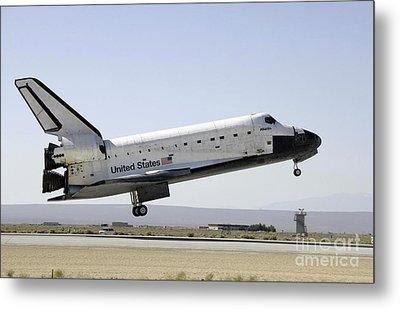 Space Shuttle Atlantis Prepares Metal Print by Stocktrek Images