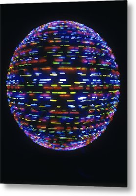 Spinning Globe Metal Print by Lawrence Lawry