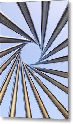 Spiral Metal Sculpture At Fermilab Metal Print by Mark Williamson