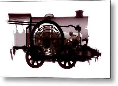 Spring Train, X-ray Metal Print by Neal Grundy