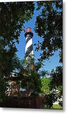 St Augustine Lighthouse Metal Print by Skip Willits