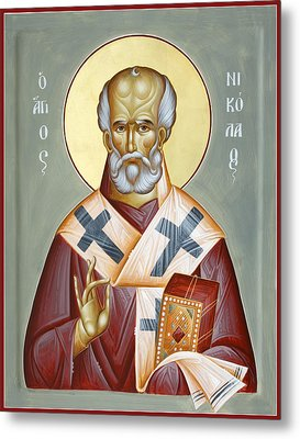 St Nicholas Of Myra Metal Print by Julia Bridget Hayes