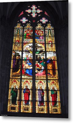 Stained Glass Window Metal Print by Suhas Tavkar