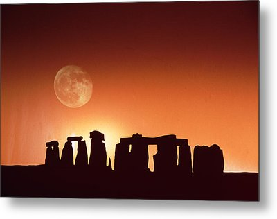 Stonehenge, England Metal Print by John Foxx