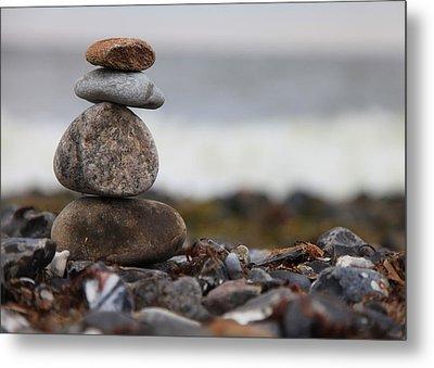 Stones At The Sea Metal Print by Falko Follert
