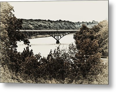 Strawberry Mansion Bridge From Laurel Hill Metal Print by Bill Cannon