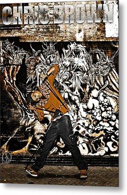 Street Phenomenon Chris Brown Metal Print by The DigArtisT