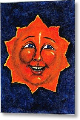 Metal Print featuring the painting Sun by Sarah Farren