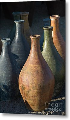 Sunrise And Pottery Metal Print by Sandra Bronstein