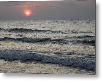 Sunrise Over Arabian Sea Hawf Protected Metal Print by Sebastian Kennerknecht