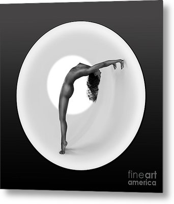 Sunrise Yoga Nudes 2 Metal Print by Design Remix