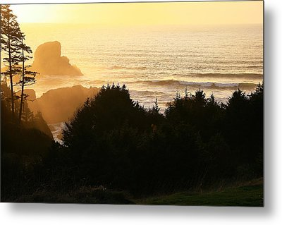 Sunset At Ecola Point Metal Print
