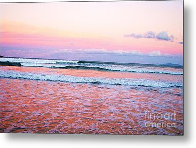 Sunset In The Waves Metal Print by Michele Penner