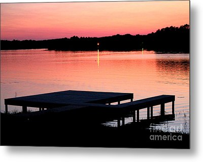 Metal Print featuring the photograph Sunset View From Dockside by Kathy  White