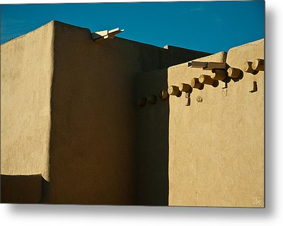 Metal Print featuring the photograph Taos Church I by Jim  Arnold