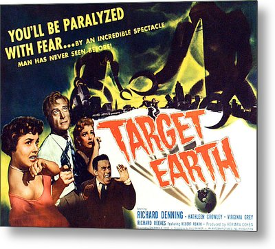 Target Earth, From Left Kathleen Metal Print by Everett