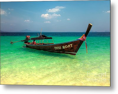 Taxi Boat Metal Print by Adrian Evans