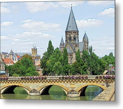 Metal Print featuring the photograph Temple Neuf De Metz Metz France by Joseph Hendrix