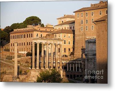 Temple Of Saturn In The Forum Romanum. Rome Metal Print