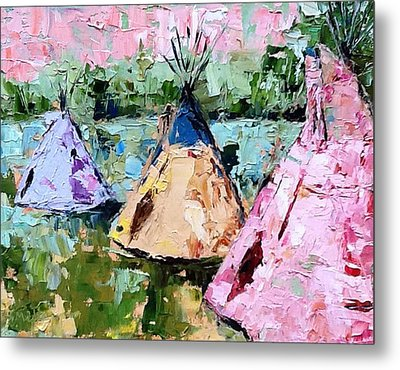 Tepees Times Three Metal Print