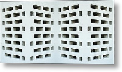 Textured Angled Walls Metal Print by Blink Images