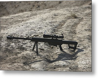 The Barrett M82a1 Sniper Rifle Metal Print by Terry Moore