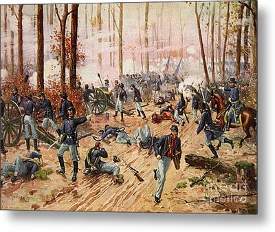 The Battle Of Shiloh Metal Print by Henry Alexander Ogden