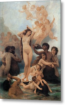 The Birth Of Venus Metal Print by William-Adolphe Bouguereau