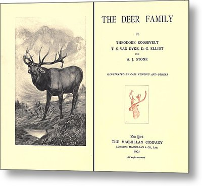 The Deer Family Was First Published Metal Print by Everett