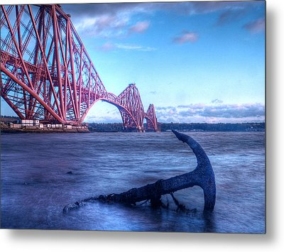 The Forth Rail Bridge Scotland Metal Print by Amanda Finan