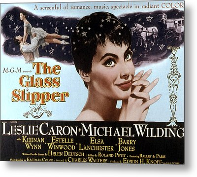 The Glass Slipper, Leslie Caron Metal Print by Everett
