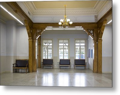 The Interior Of The Waiting Room Hall Metal Print by Jaak Nilson