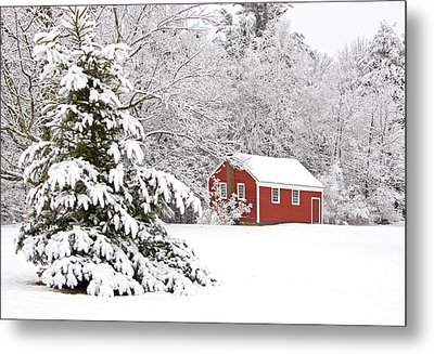 The Little Red School House Metal Print