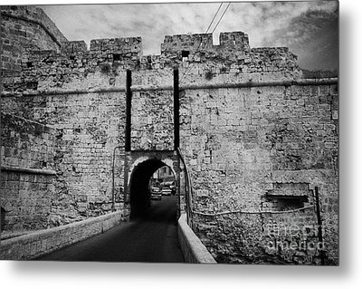 The Porta Di Limisso The Old Land Gate In The Old City Walls Famagusta Turkish Republic Cyprus Metal Print by Joe Fox