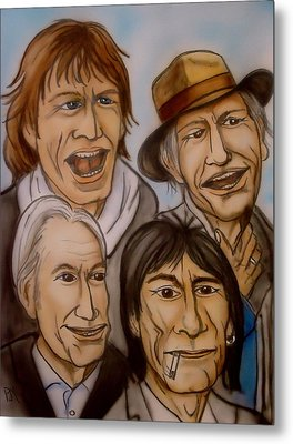The Rolling Stones Metal Print by Pete Maier