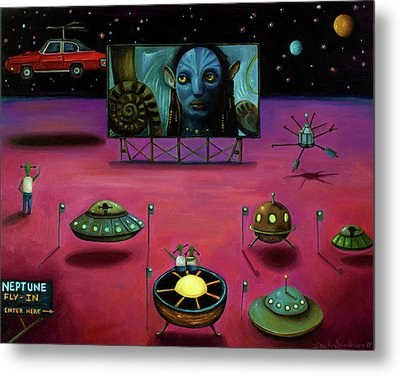 The Sighting At The Neptune Fly In Metal Print by Leah Saulnier The Painting Maniac