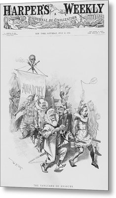 The Vanguard Of Anachy, Caricatures Metal Print by Everett
