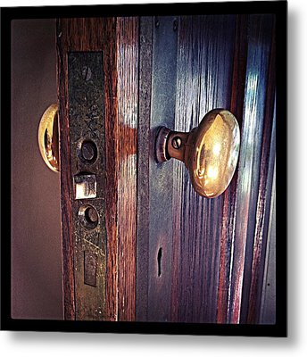The Way In Metal Print by Michelle Calkins