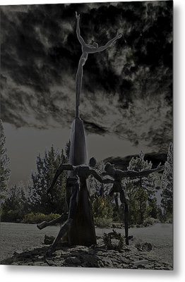 Metal Print featuring the photograph The Why Group  by Larry Depee