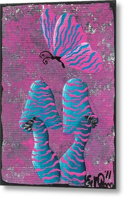 The Zebra Effect Metal Print by Oddball Art Co by Lizzy Love