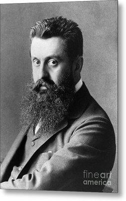 Theodor Herzl (1860-1904) Metal Print by Granger