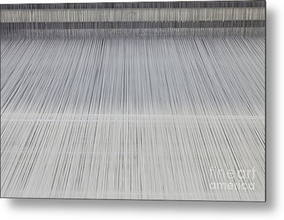 Threads In An Industrial Loom Metal Print by Magomed Magomedagaev