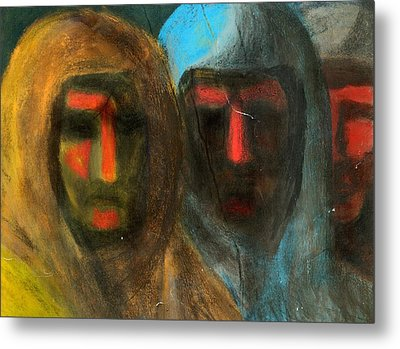 Three Figures Metal Print by Chester