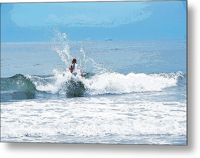 Metal Print featuring the photograph Through The Wave Blues by Maureen E Ritter