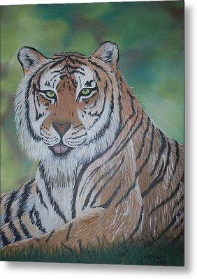 Tiger Metal Print by Shadrach Ensor