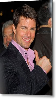 Tom Cruise At Arrivals For Mission Metal Print by Everett